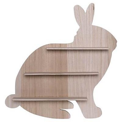 Wood Bunny Shaped Wall Shelf - 3R Studios