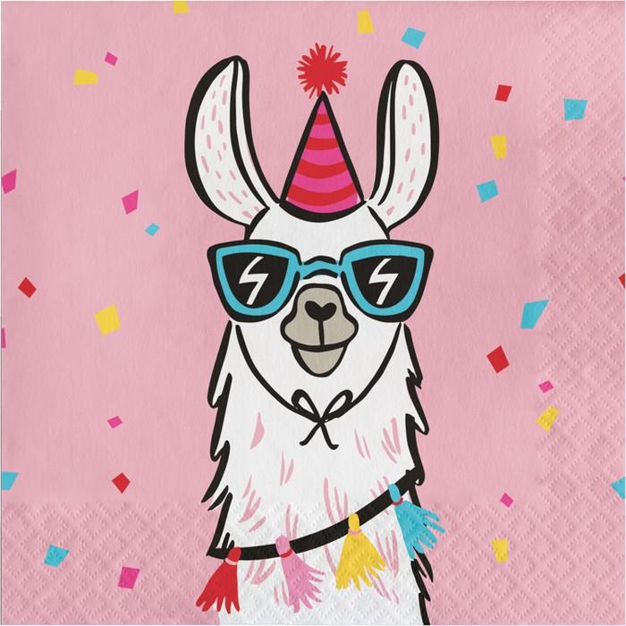 20ct Llama Lunch Napkin - Spritz™ - image 1 of 1