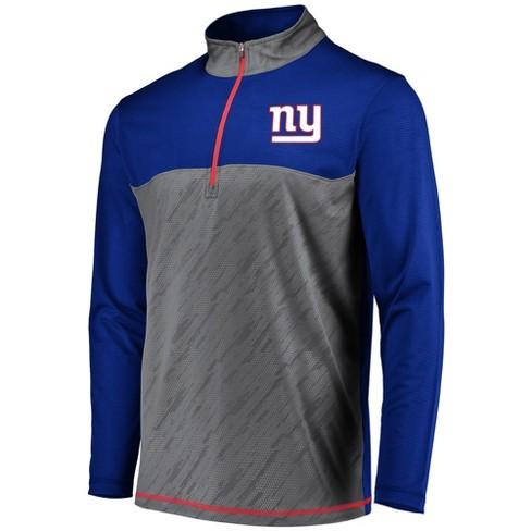fd84d4613 New York Giants Men s Striped Geo Fuse  Gray 1 2 Zip XL   Target