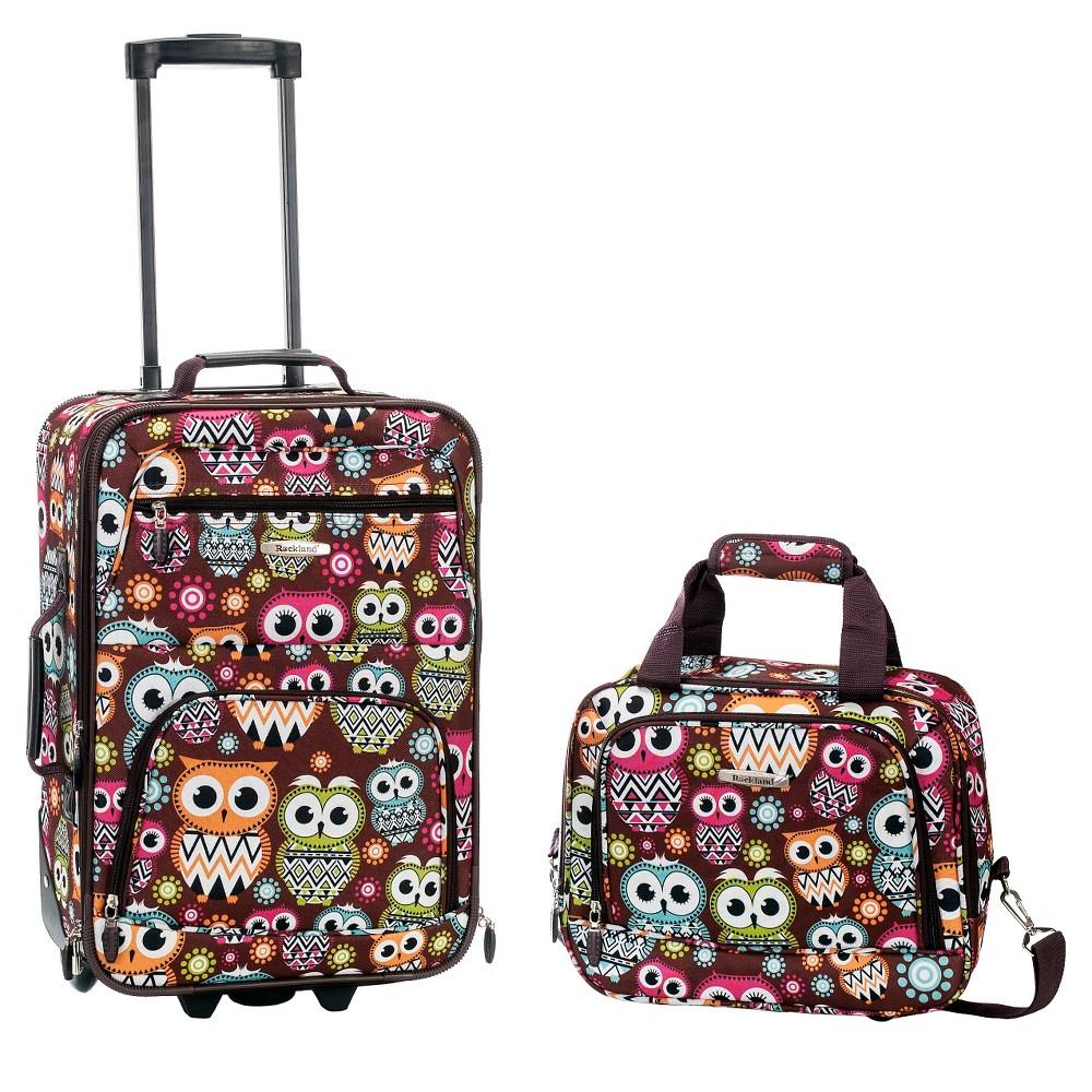 Rockland Fashion 2pc Luggage Set - Owl, Multi-Colored