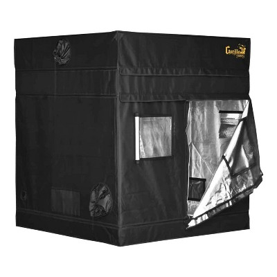 Gorilla Grow Tent GGTSH55 Shorty 5 x 5 Foot Portable Reflective Hydroponic Greenhouse Garden Room w/ Infrared Blocking Roof & 9 Inch Extension Kit
