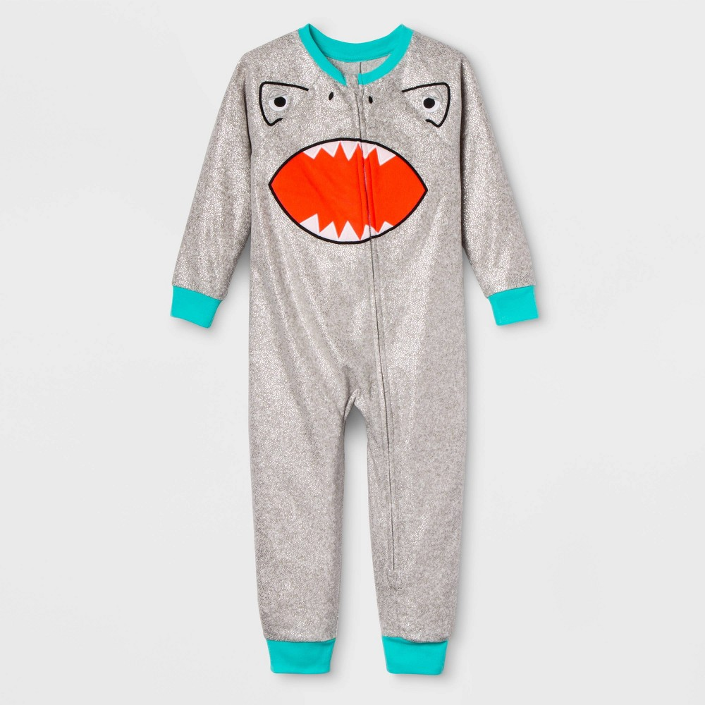 Image of Toddler Shark Family Union Suit - Gray 18M, Adult Unisex