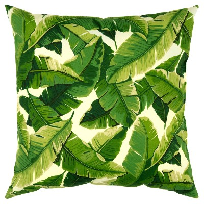 """22""""x22"""" Oversize Poly-Filled Botanical Indoor/Outdoor Square Throw Pillow - Rizzy Home"""