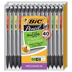 BIC #2 Xtra Life Mechanical Pencils, 0.7mm, 40ct - Multicolor