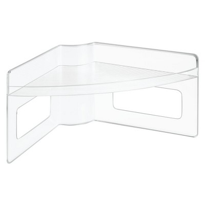 mDesign Plastic Kitchen Cabinet Lazy Susan Food Storage Tray