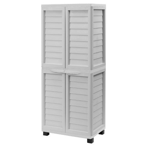 "70.9"" Cabinet With Hanging Storage With 2 Shelves - Gray - Starplast - image 1 of 2"