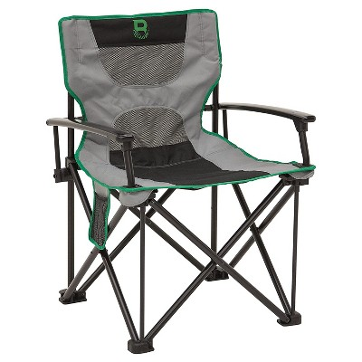 Barronett Blinds HD4 Outdoor Portable Lightweight Folding Chair Seat for Hunting Blind with Carry Bag and Mesh Back, Gray