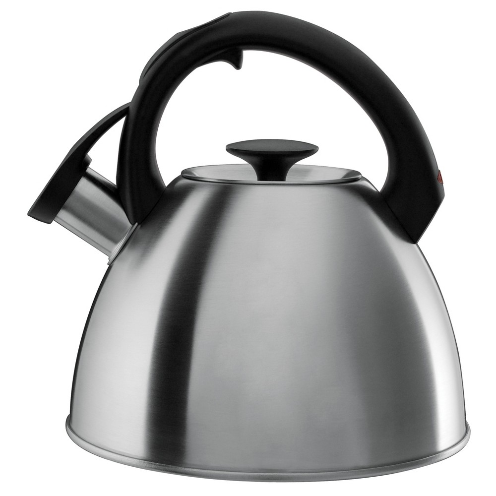 Image of OXO 2.1qt Stovetop Tea Kettle Brushed Stainless - Black 1072130