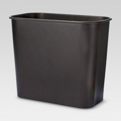 Bathroom Wastebasket Brown Bronze - Threshold™