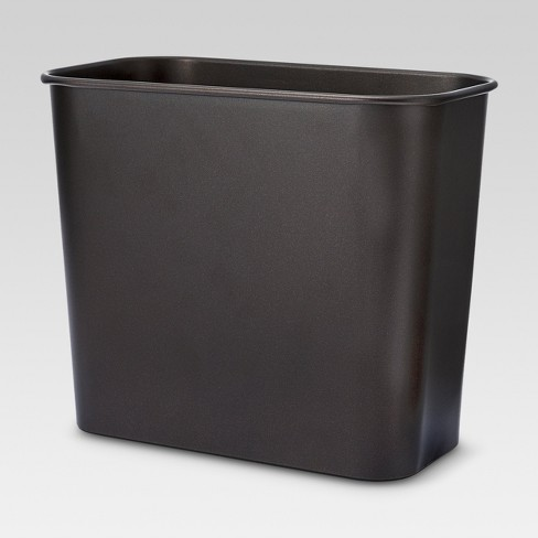 Bathroom Wastebasket Brown Bronze - Threshold™ - image 1 of 1