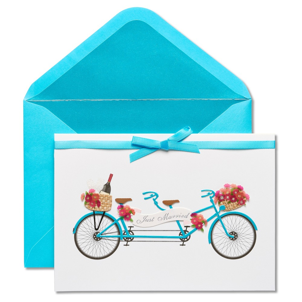 Papyrus Tandem Bike Wedding Congratulations Card, Multi-Colored