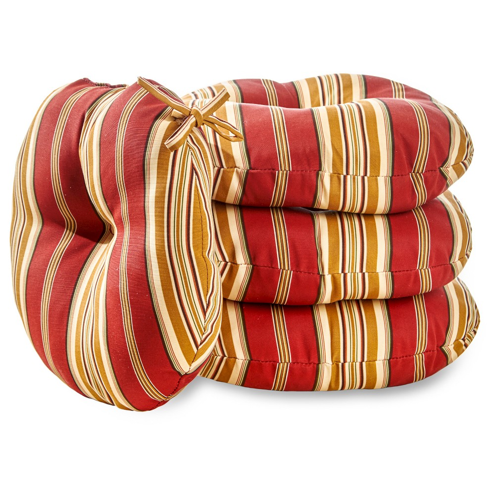 "Image of ""4pk 15"""" Roma Stripe Outdoor Bistro Chair Cushions - Kensington Garden"""