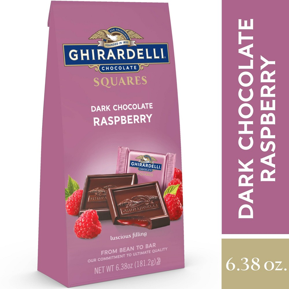 Ghirardelli Dark Chocolate Raspberry Filling Squares 6 38oz