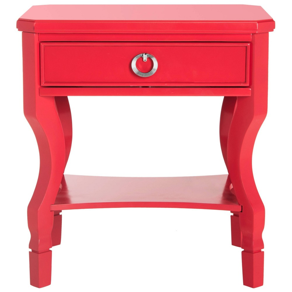 Alaia Side Table - Red - Safavieh
