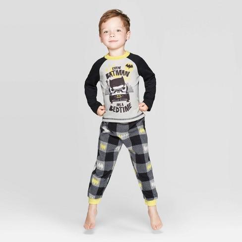 Toddler Boys' Batman Pajama Set - Black - image 1 of 3