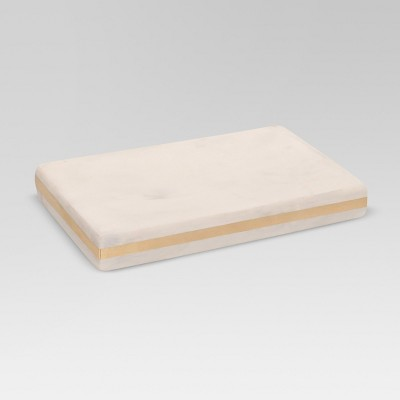 Marble Soap Dish White/Gold - Project 62™