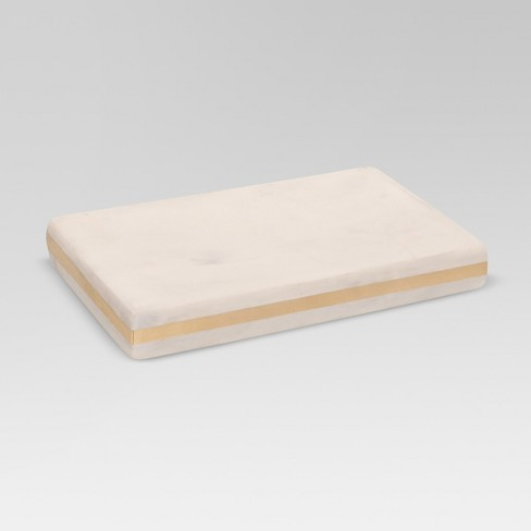 Marble Soap Dish White/Gold - Project 62™ - image 1 of 1