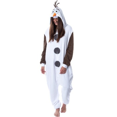 Disney Frozen Adult Olaf Kigurumi Costume Union Suit Pajama For Men Women