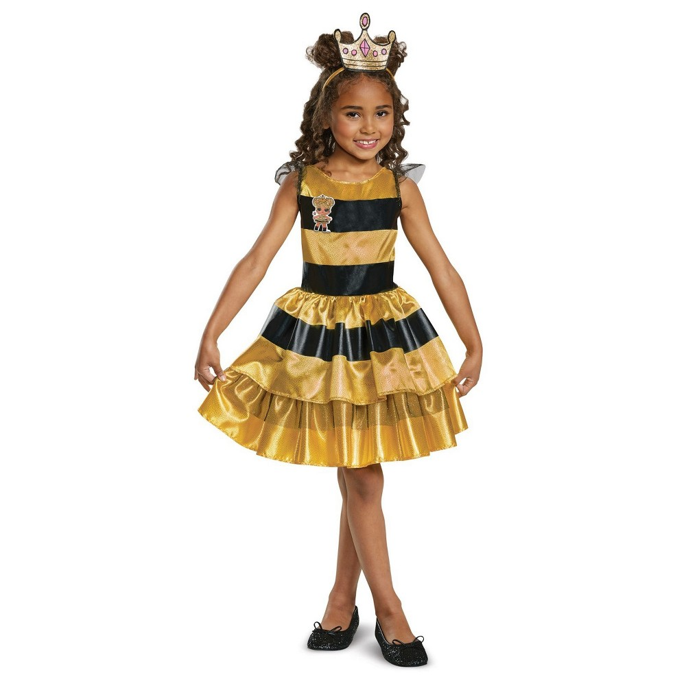 Girls' L.O.L Dolls Queen Bee Halloween Costume M, Multicolored