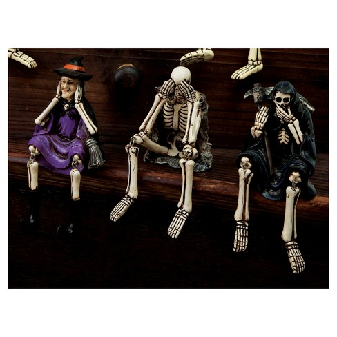 Halloween Witch, Skeleton and Reaper Polystone Table Display - image 1 of 1