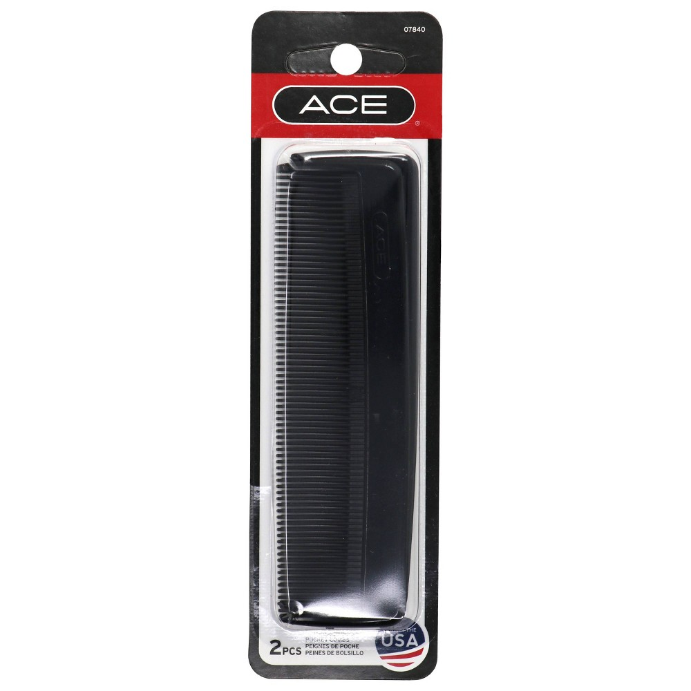 Image of Ace Pocket Combs - 2 pk, Black