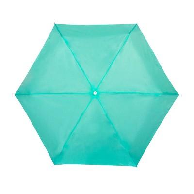 ShedRain Manual Compact Umbrella  - Mint Green