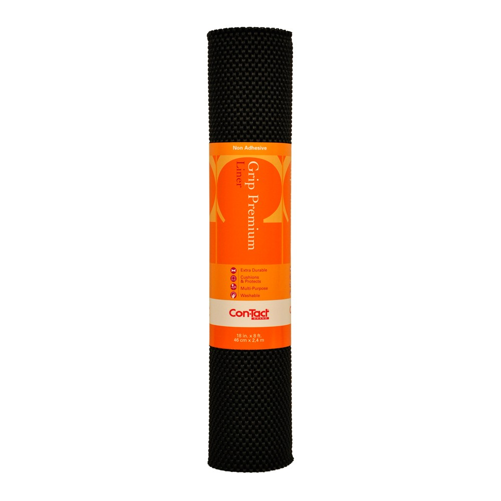 Image of Con-Tact Brand Grip Premium Non-Adhesive Shelf Liner- Thick Grip Black (18''x 8')