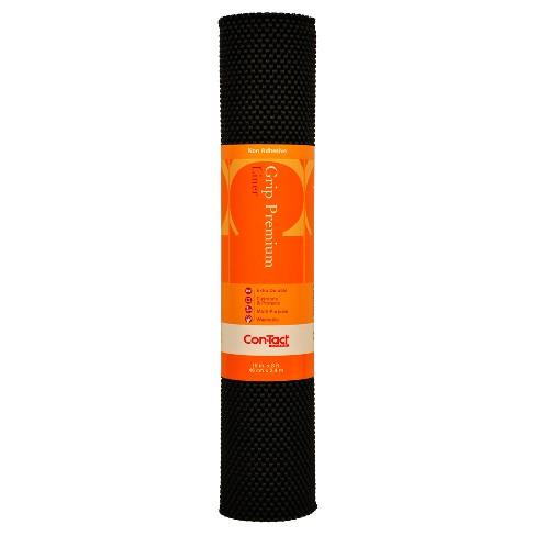 Con-Tact Brand Grip Premium Non-Adhesive Shelf Liner- Thick Grip Black (18''x 8') - image 1 of 2