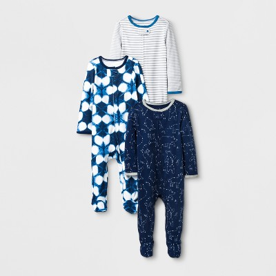 Baby Boys' 3pk SNP - Cloud Island™ Navy Newborn