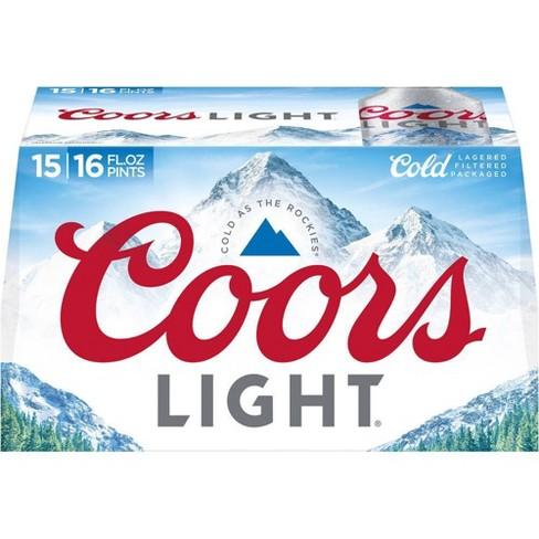 Coors Light Beer - 15pk/16 fl oz Aluminum Bottles - image 1 of 4