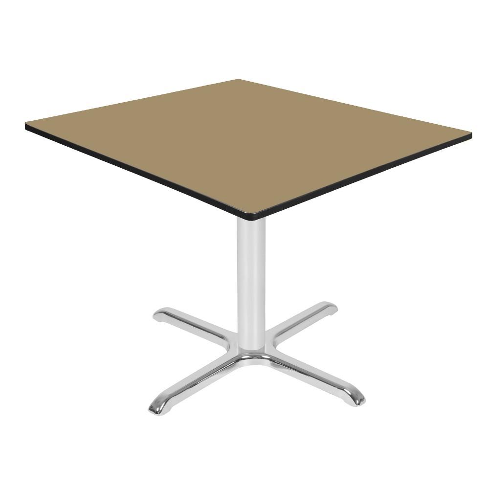 48 Via Square X - Base Table Gold/Chrome (Gold/Grey) - Regency
