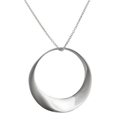 "31mm Open Circle Pendant (18"")"
