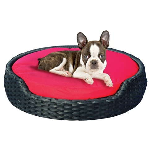 Dog-Life Wicker Oval Dog Bed - Brown/Pink - image 1 of 2