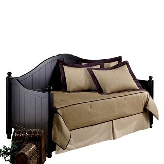 Augusta Daybed with Suspension Deck and Roll-Out Trundle - Black - Hillsdale Furniture