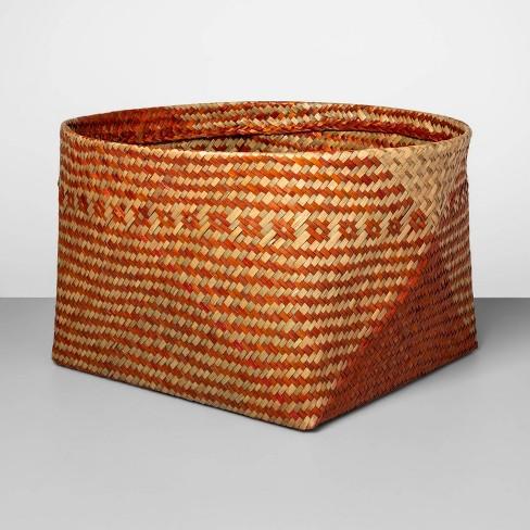 """Decorative Palm Leaf Basket Orange 10.83""""x17.7"""" - Opalhouse™ - image 1 of 2"""