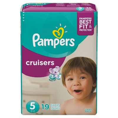Pampers Cruisers Diapers Jumbo Pack - Size 5 (19ct)