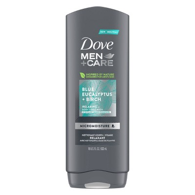 Dove Men+Care Blue Eucalyptus & Birch Relax & Uplift Body Wash Soap - 18  fl oz