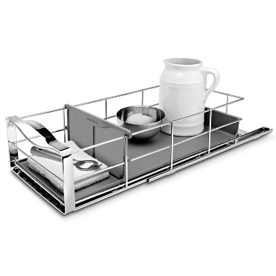 """simplehuman 9"""" Pull-Out Cabinet Organizer Heavy Gauge Steel Frame"""