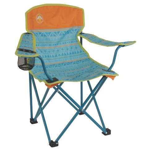 Coleman Kids Quad Chair With Carrying Case Blue Target