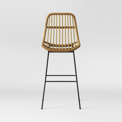 Linnet Rattan with Metal Legs Barstool Light Brown - Opalhouse™