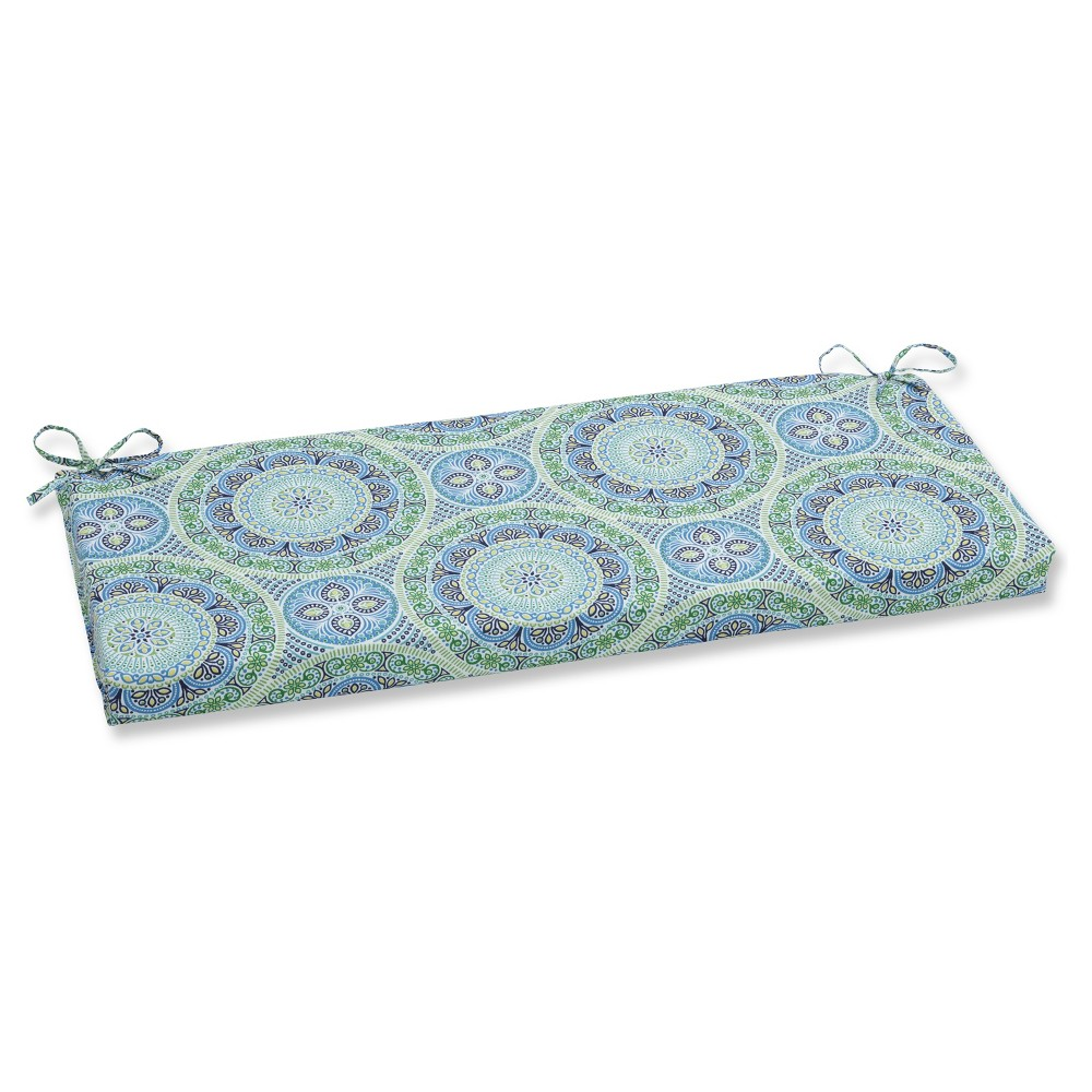 Outdoor/Indoor Delancey Blue Bench Cushion - Pillow Perfect
