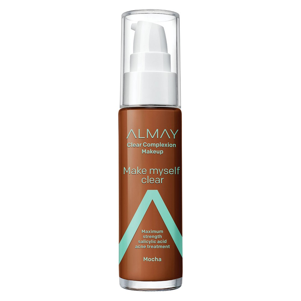 Image of Almay Clear Complexion Makeup 910 Mocha - 1oz, 910 Brown