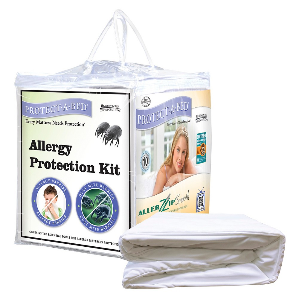 Image of PROTECT-A-BED Allergy Protection Kit - White (Full)