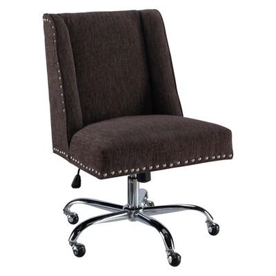 Draper Office Chair - Dark Gray - Linon