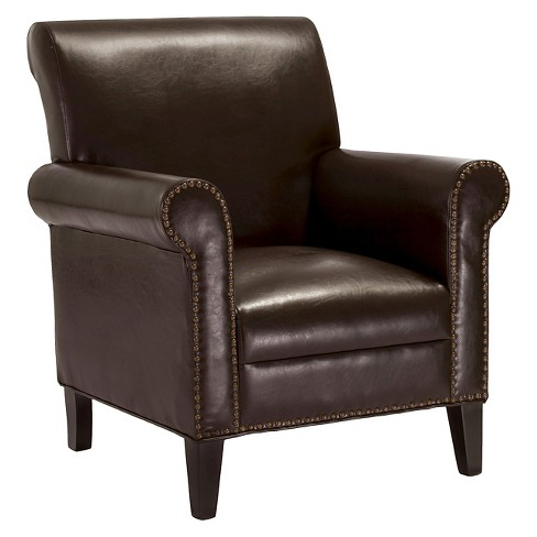 Richard Studded Club Chair Chocolate Brown - Christopher Knight Home - image 1 of 4