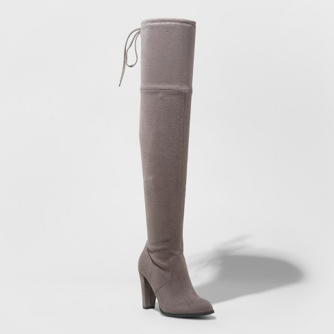 bacf3787965 Women s Nikka Wide Width Heeled Over the Knee Sock Boots - A New Day ...