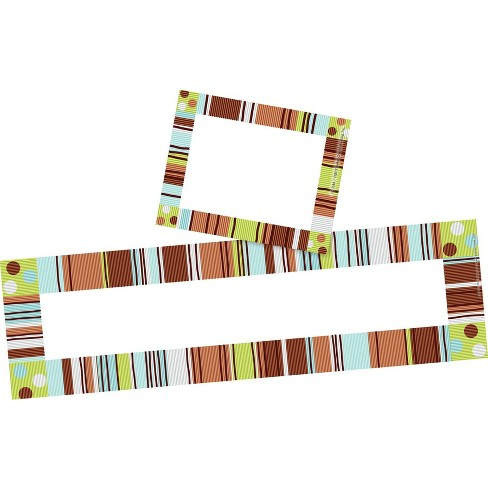 Barker Creek 81pc Ribbon By The Yard Nametag and Name Plate Set - image 1 of 4
