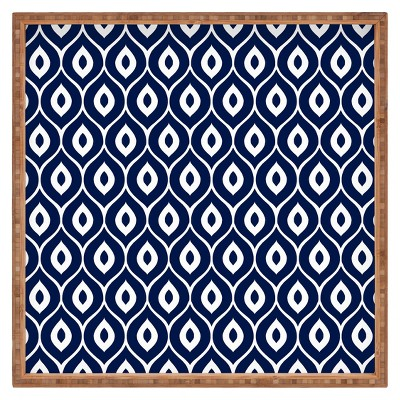 Decorative Aimee St Hill Leela Wooden Tray - Navy - Deny Designs