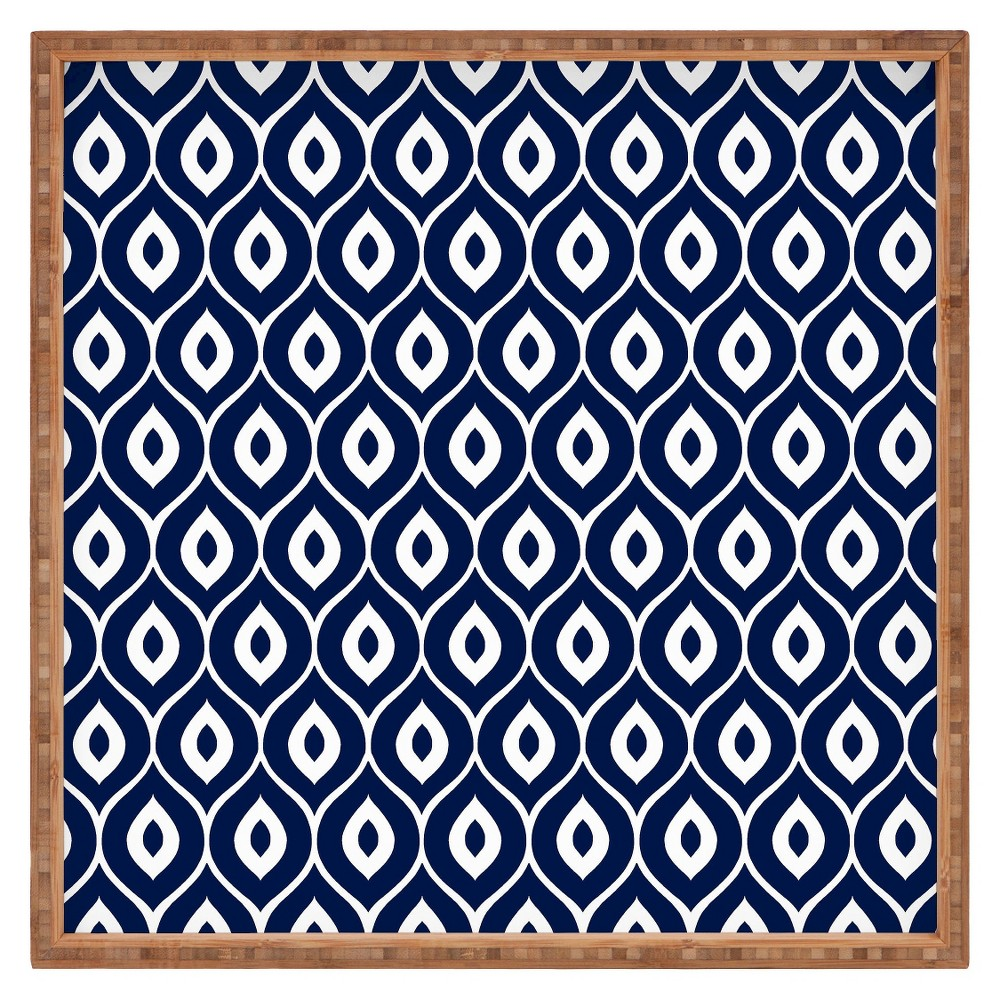 Decorative Aimee St Hill Leela Wooden Tray - Navy (Blue) - Deny Designs