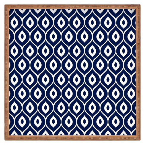 Decorative Aimee St Hill Leela Wooden Tray - Navy - Deny Designs® - image 1 of 2